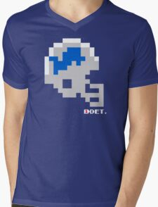 Tecmo Bowl - Detroit Lions - 8-bit - Mini Helmet shirt Mens V-Neck T-Shirt