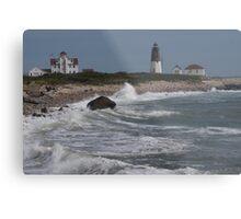Point Judith Light House and Coast Guard Statiion Metal Print