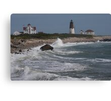 Point Judith Light House and Coast Guard Statiion Canvas Print