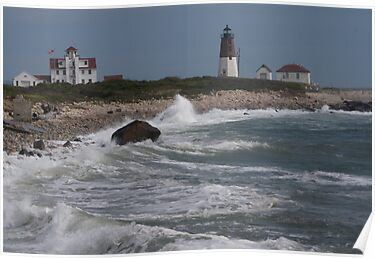 Point Judith Light House and Coast Guard Statiion by Barry Doherty