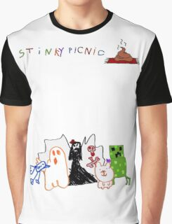 Stinky Picnic - Five Album Characters  Graphic T-Shirt