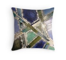 Blocks of Blue Throw Pillow