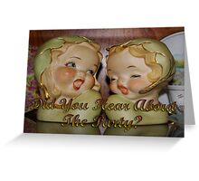 """gossipy"" party invite Greeting Card"