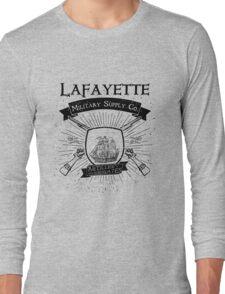 Guns and Ships - Black Long Sleeve T-Shirt