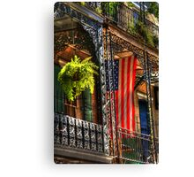 Ferns and Flags Canvas Print