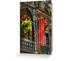 Ferns and Flags Greeting Card