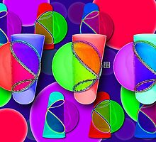 """""""Viviani Tumblers""""© by Lisa Clark for Thinker Collection - STEM Art"""