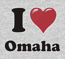 I Heart / Love Omaha by HighDesign