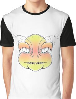 Angry Monster Portrait Drawing Graphic T-Shirt