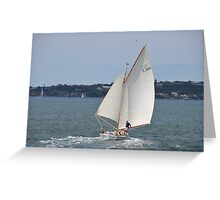 Gaff-rigged sailboat, Sydney Harbour, Australia Greeting Card