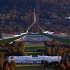 Australia&#x27;s Parliament House at Sunset by Bev Pascoe