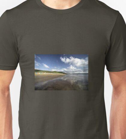 Woolacombe beach reflections Unisex T-Shirt