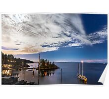 Moonlight over Eagle Harbour  Poster