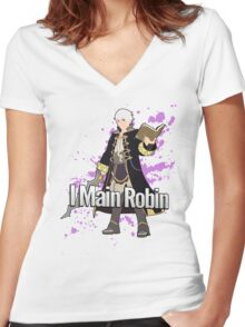 I Main Robin - Super Smash Bros Women's Fitted V-Neck T-Shirt