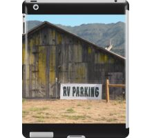 Old barn with RV parking iPad Case/Skin