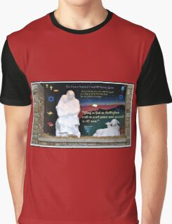 Holy Family Christmas Card Graphic T-Shirt