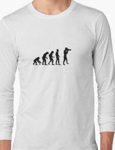 Photographer evolution Long Sleeve T-Shirt