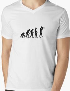 Photographer evolution Mens V-Neck T-Shirt
