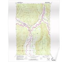 USGS Topo Map Washington State WA Deming 240833 1972 24000 Poster