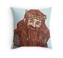 Gimli flower crown Throw Pillow