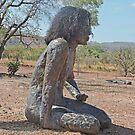 Aboriginal girl statue, Wyndham, Western Australia by Margaret  Hyde