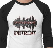 Infiltrating Detroit (Style Neveau) Men's Baseball ¾ T-Shirt