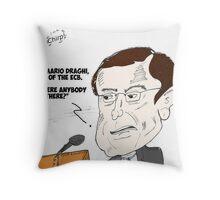 European Central Bank President Mario Draghi cartoon Throw Pillow