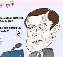 Caricature de Mario DRAGHI président BCE by Binary-Options