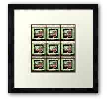 """""""Sheldon Wears Mobo - GREEN""""© Framed Print"""