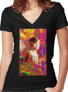 Psychedelic Dreamings Women's Fitted V-Neck T-Shirt
