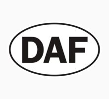 DAF - Oval Identity Sign by Ovals