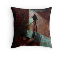 Altered, Mitre Square Murder Throw Pillow