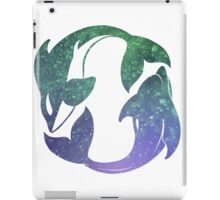 Swim Free Whale and Dolphin iPad Case/Skin