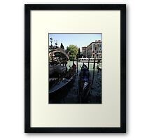 Two Gondolas Framed Print