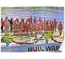 Maori Children in Ngaruawaia New Zealand Poster