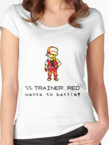 Pokemon Trainer Red  Women's Fitted Scoop T-Shirt