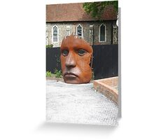 Face Sculpture in Canterbury Greeting Card