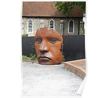Face Sculpture in Canterbury Poster