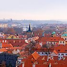 Red Roofs of Prague by Keld Bach
