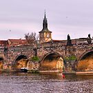 Charles Bridge Panorama by Keld Bach