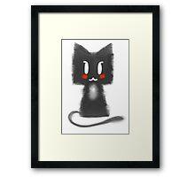Black Kitty Framed Print