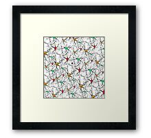 """Synapsing now. - WHITE""© Framed Print"