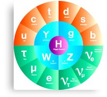 The Standard Model of Particle Physics Canvas Print