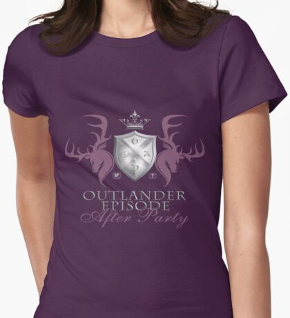 Outlander After Party Shield- Rose/Silver Womens Fitted T-Shirt