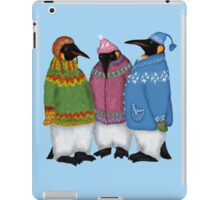 Penguins in Hand Knitted Sweaters iPad Case/Skin