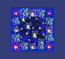 Christmas Cards Fantasia Collage with Snowflakes Unisex T-Shirt