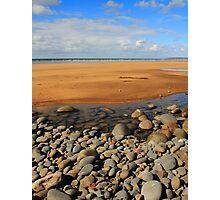 Rocks Sand & Sea Photographic Print