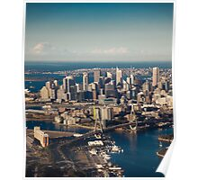 Aerial view of Sydney city, Australia Poster