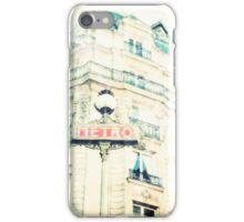 Paris Metro sign, Vintage Feel iPhone Case/Skin