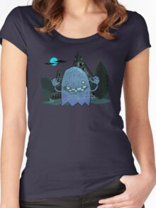 Pixel Ghost Women's Fitted Scoop T-Shirt